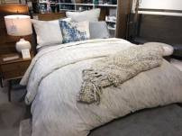 I really liked this cozy bedding ensemble.